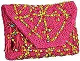 Antik Batik CROCHET1WAL, Damen Clutches, Pink (PINK), 34x25x5 cm (B x H x T)
