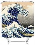 DAFENP Tende da Doccia Impermeabile Anti-Muffa Resistente Tessuto 180 x 180 cm 8 Anelli per Tende Doccia per Vasca da Bagno (style5-1)
