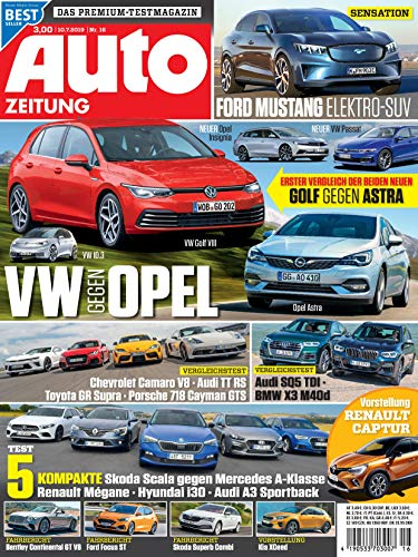 """Auto Zeitung 16/2019 \""""VW Opel\"""""""