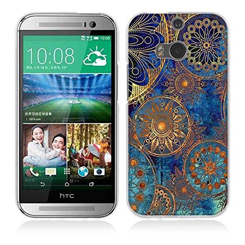 One M8 / M8S Hülle Case, Fubaoda [Mandala-Kreis] Ultra-Clear HTC One M8 / M8S Case Silikon Soft TPU Premium Handyhülle Case Backcover Bumper Slim case für HTC One M8 / M8S