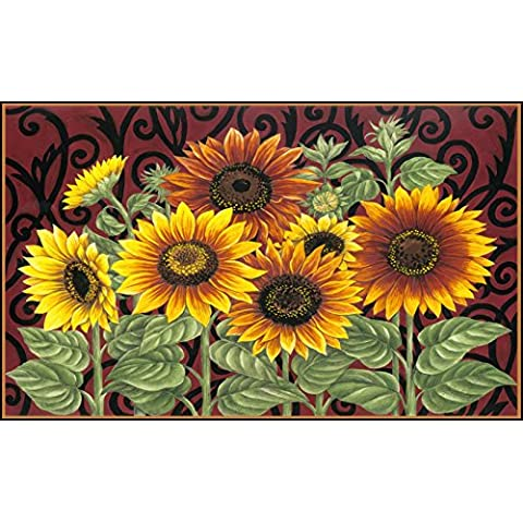 Toland Home Garden girasol Medley estándar alfombrilla (estándar, multicolor)