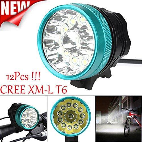 Preisvergleich Produktbild Taschenlampe,WINWINTOM 30000LM 12 x CREE XM-L T6 LED Fahrrad-einen.Kreislauf.durchmachenlicht wasserdichte Lampe