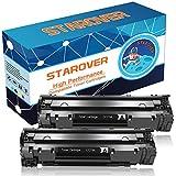 STAROVER 2x CF279A (79A) / CF 279A Cartucho De Tóner Negro Compatible Para HP LaserJet Pro MFP M26 M26nw M26a HP LaserJet Pro M12 M12w M12a Impresora (1000 Páginas Por Negro)
