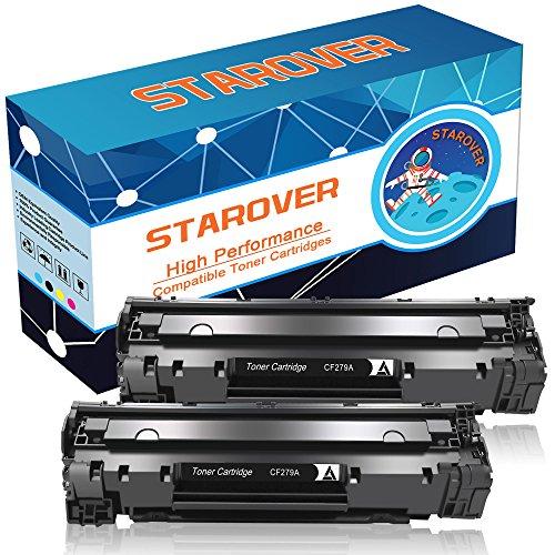 STAROVER 2x CF279A (79A) / CF 279A Kompatible Schwarz Tonerkartuschen Ersatz für HP LaserJet Pro MFP M26 M26nw M26a HP LaserJet Pro M12 M12w M12a Drucker, 1000 Seiten / Toner