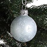 Glas-Weihnachtsbaumkugeln 6er-Set 4cm Christbaumkugel Adventsdeko Baumschmuck , Farbe:blau