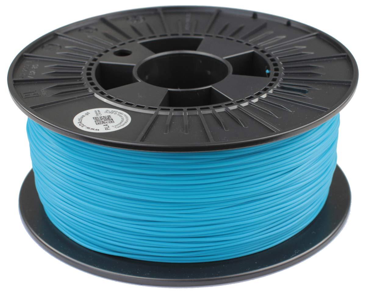 3DACTIVE 1.1 KG de Filament PLA 1.75 mm pour Imprimante 3D Stylo d'Impression 3D PLA Turquoise