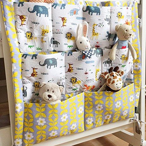 60 cm Vine Vivero Cuna Organizador ordenado para la cama de la choza Cama de beb/é bolso de la bolsa de almacenamient Multifunci/ón colgando pa/ñales Organizador 55