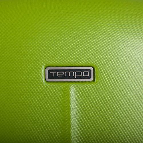 TEMPO - SET TROLLEY 50/60 / 70 CM BI-COLOR MARK TEMPO, Color Pistazien-Silber Pistazien-Silber