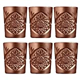 Libbey - Hobstar - Whiskyglas, Wasserglas, Saftglas, Glas - 6er Set - 350 ml - Kristallglas - Kupfer