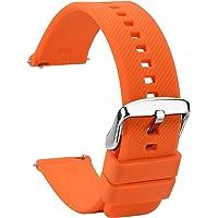 TStrap Cinturini per Orologi Silicone 20mm - Cinturino di Ricambio Impermeabile in Gomma da Cancellare Nera a Sgancio…