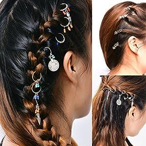 Damen Gothic Punk Stil vintage Blätter, Schneeflocken, Münzen Haarschmuck Haarnadeln Haarspiralen Quasten Haarspange Haarschmuck Sommer Strand Schmuck Kopfschmuck, silber