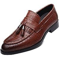 Mocassini Eleganti da Uomo in Pelle con Punta a Punta e Nappine Scarpe Oxford da Uomo Traspiranti Slip su Scarpe da…