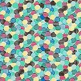 Fabulous Fabrics Viskosestoff Karierte Punkte - grün -