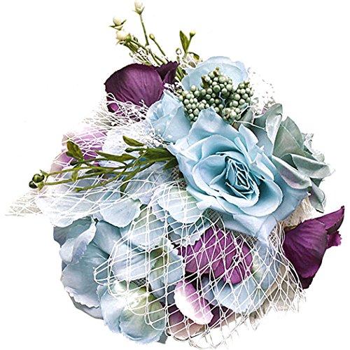 Zoylink Fascinators Haarspange Elegante KüNstliche Blume Mesh Fascinator Hut Mit Haarspange (Hüte & Fascinators Online)