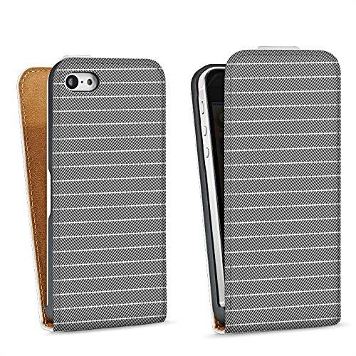 Apple iPhone 5s Housse Outdoor Étui militaire Coque Effet d'optique Noir et blanc Motif Sac Downflip blanc