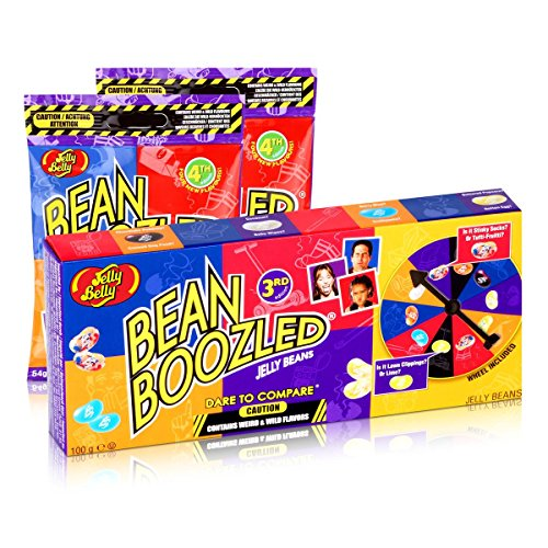 Jelly Belly Bean Boozled Set Glücksrad + zwei 54g Tüten Jelly Beans
