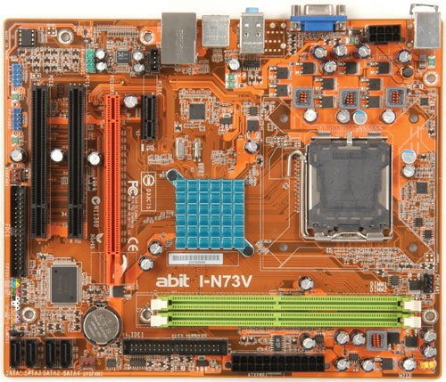 Abit I-N73V Mainboard Micro-ATX Nvidia 7100 / Nforce 630i Sockel 775 -