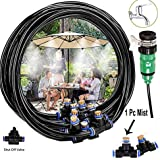 DIY Crafts Misters for Patio Misting System Misting Line Mist Nozzles Brass Adapter for Patio Garden Umbrellas Greenhouse Trampoline (1 Pcs Mist Set, Multi)