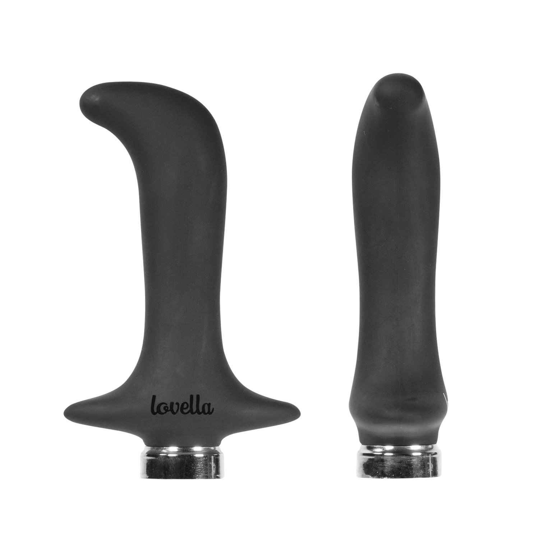 Lovella Anal Vibrator – Specially Designed Prostate Vibrator with 10 Speeds – Male Vibrator for Anal Play – Black
