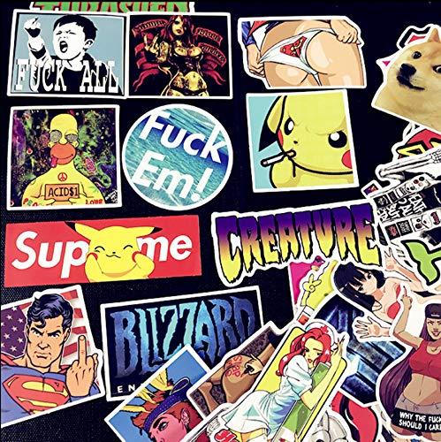 Europa E Stati Uniti Vento Trolley Caso Di Viaggio Bagaglio Creativo Adesivi Animali Anime Adesivi Adesivi Graffiti Personalità 50 Pz