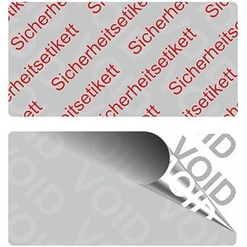 40 x 20 mm silber VOID SicherheitsetikettenSicherheitssiegel auf Rolle 1000 St/ück