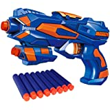 Royals Hub® Foam Blaster Gun Toys Safe and Long Range Galaxy Gun with 8 Pieces Soft Bullets for 3+ Kids