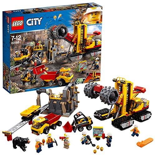 LEGO City 60188 - Bergbauprofis Bergbauprofis an der Abbaustätte, Kinderspielzeug (Lego City Coast Guard)