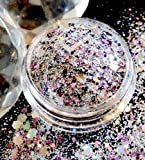 3g Glitter-Rautenpailettenmix It´s Party PT09. Glitterpuder, Nailart