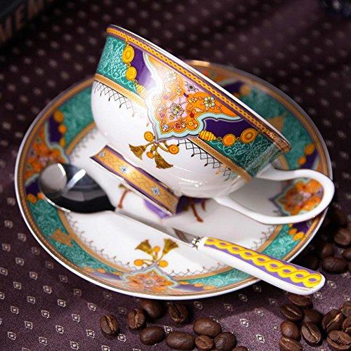 SSBY Tasses café porcelaine, haute qualité créative Phnom Penh céramique café tasse et soucoupe cuillère ensemble, soucoupe rouge britannique , C