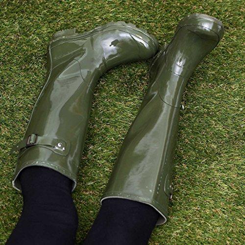 SPYLOVEBUY ARCTIC Gummistiefel Regenstiefel Flach GrŸn Gloss