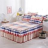 Jannyshop Bettlaken mit rüschen Bettvolants aus Polyestergewebe, 150×200cm, ohne Kissenbezüge