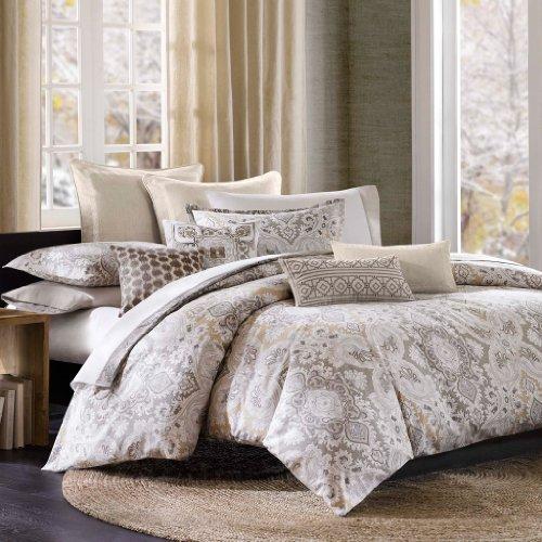 Echo Design Odyssey Bettbezug für Queen-Size, Grau,
