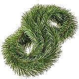 FairyTrees Weihnachtsgirlande FairyGarland, künstliche Tannengirlande aus PVC, Farbe: Hellgrün, Länge: 4 m, FTZ02-4-H