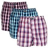Daily Underwear Herren Webboxer Boxershorts 3er Pack, Größe:M;Farbe:(08) Rot