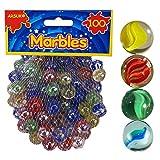 ARSUK 100 Glasmurmeln, Spielzeug, Deko Kugeln Durchsichtig Klare Glasmurmeln,Dekoration Glasperlen bunt für Zuhause oder Kind