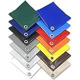 Afdekzeil waterdicht | vrachtwagenzeil 670 g/m² | dekzeil met ogen (elke 50 cm) | zeer robuust waterdicht dekzeil van PVC gec