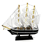 Vcare   Wooden Decorative Sailing Ship   Best Showpiece for Office and Home Decor   Multicolor   20 cm