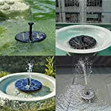 Solar Power Bird Bath Fountain,Yunplus Solar Panel Water Floating Fountain Pump Kit for Bird Bath Fish Tank Small Pond Garden Decoration
