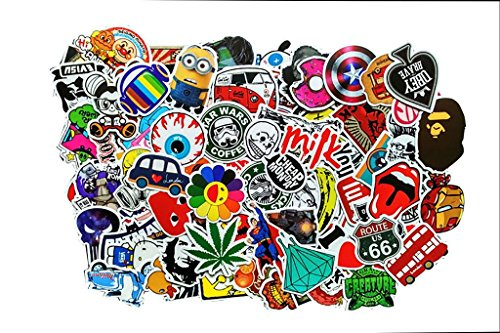 Tony US (Packung mit 100) Aufkleber für Skateboard Snowboard-Weinlese-Vinylaufkleber-Graffiti Laptop Gepäck Auto-Fahrrad-Decals mischen Lot Art- und Weisekühler