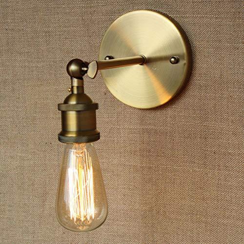 Retro Loft Wandleuchte Industrie Vintage - Lampen - Licht - Messing Wandleuchte Stair Flur, Messing -