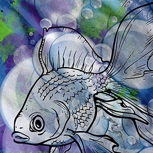 Bunt Kunst Fisch Tier Meer Blase Damen S-2XL Muskelshirt | Wellcoda Marine