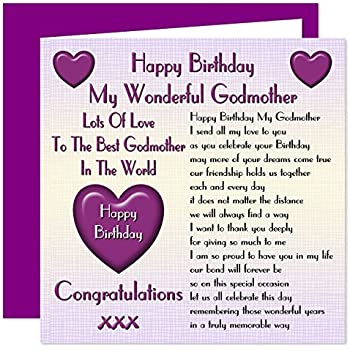 Godmother Happy Birthday Card Lots Of Love To The Best Godmother