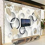 Weaeo Modernes, Minimalistisches Schöner Traum Wald 3D Fernseher Sofa Hintergrund Wand Benutzerdefinierte Großes Wandbild Tapete Grün 120 X 100 Cm