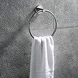 Hicollie Handtuchring Handtuchhalter Wandhandtuchhalter Wand-Ring aus gebürstetem Edelstahl für Bad, 18cm