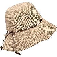 HZH-Hüte Raffia Special feine häkeln Hut Lady Beach Hut UV-Schutz Sonnencreme Sonnenhut