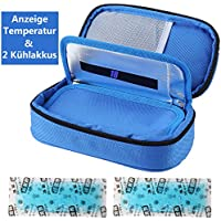 Insulin kühltasche Diabetiker Tasche Medikamenten Kühltasche für Diabetikerzubehör mit Kühlakkus (Blau) preisvergleich bei billige-tabletten.eu