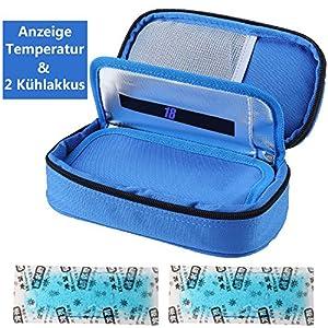 Insulin kühltasche Diabetiker Tasche Medikamenten Kühltasche für Diabetikerzubehör mit Kühlakkus