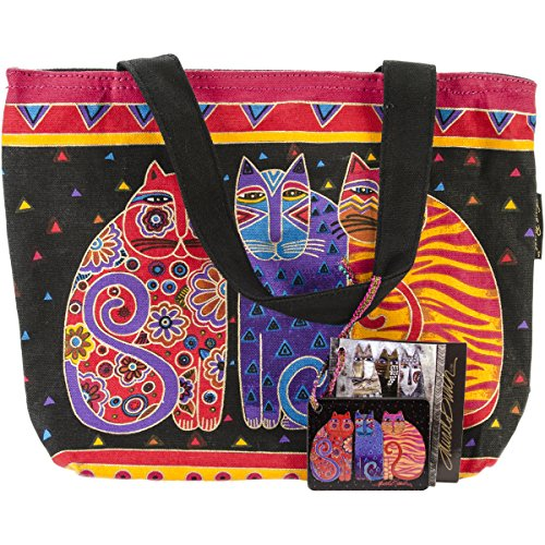 laurel-burch-laurel-burch-mini-tote-feline-friends
