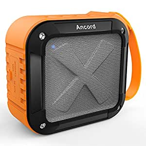 Portable Outdoor Bluetooth Speaker Also Good for Shower - Waterproof & Rechargeable(Orange)