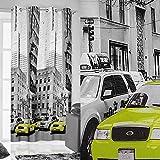 Vorhang Ösenvorhang 140x250 cm MANHATTAN 1 mit New York Motiv Wohnzimmer Modern Blickdicht 60%